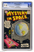 Silver Age (1956-1969):Science Fiction, Mystery in Space #39 (DC, 1957) CGC FN/VF 7.0 Cream to off-white pages. Gil Kane cover. Kane, Carmine Infantino, and Sid Gre...