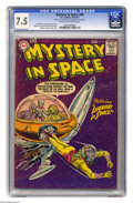 Silver Age (1956-1969):Science Fiction, Mystery in Space #40 (DC, 1957) CGC VF- 7.5 Cream to off-white pages. Gil Kane and Jack Adler cover. Kane, Sid Greene, and F...