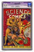 Golden Age (1938-1955):Science Fiction, Science Comics #4 (Fox, 1940) CGC Apparent VG- 3.5 Slightly brittlepages Extensive (A). Classic cover by Joe Simon. Jack Ki...