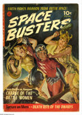 Golden Age (1938-1955):Science Fiction, Space Busters #1 (Ziff-Davis, 1952) Condition: GD/VG. Painted coverby Norman Saunders. Interior art by Overstreet 2005 GD 2...