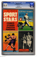"""Golden Age (1938-1955):Non-Fiction, Sport Stars #2 (Parents' Magazine Institute, 1946) CGC VF 8.0Off-white pages. Baseball greats. """"D"""" copy. This is currently ..."""
