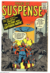 Tales of Suspense #3 (Marvel, 1959) Condition: FN. Flying saucer cover and art by Steve Ditko. Overstreet 2005 FN 6.0 va...