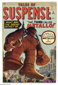 Silver Age (1956-1969):Adventure, Tales of Suspense #16 (Marvel, 1961) Condition: VG. First Metallo cover and story (Iron Man prototype). Cover and art by Jac...