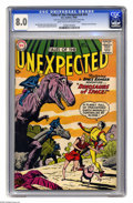 Silver Age (1956-1969):Science Fiction, Tales of the Unexpected #54 (DC, 1960) CGC VF 8.0 Light tan to off-white pages. Dinosaur cover and story. Bob Brown cover. N...