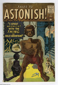 Silver Age (1956-1969):Mystery, Tales to Astonish #7 (Marvel, 1960) Condition: VG. Prototype issue(Toad Men). Jack Kirby/Steve Ditko cover and art. Overstr...