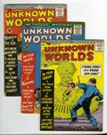 Silver Age (1956-1969):Horror, Unknown Worlds Group (ACG, 1960-63) Condition: Average VG+. Thisgroup consists of five comics: #1, 2 (Dinosaur cover story)... (5Comic Books)