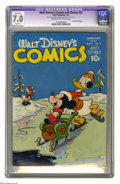 Golden Age (1938-1955):Funny Animal, Walt Disney's Comics and Stories #52 (Dell, 1945) CGC ApparentFN/VF 7.0 Slight (A) Cream to off-white pages. Micky Mouse an...