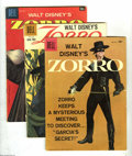 Silver Age (1956-1969):Adventure, Zorro Group (Dell, 1953-60) Condition: Average VG. This group consists of nine comics: Four Color #497 (Sword of Zorro),... (9 Comic Books)