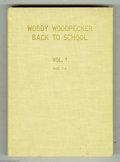 Golden Age (1938-1955):Miscellaneous, Dell Giant Comics Woody Woodpecker Back to School #1-4 Bound Volume (Dell, 1952-55). The covers of these Dell Giants are loa...