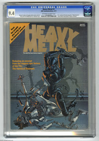 Heavy Metal #1 (HM Communications, 1977) CGC NM 9.4 Off-white to white pages. United States version of French magazine c...