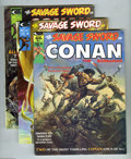 Magazines:Miscellaneous, Savage Sword of Conan Group (Marvel, 1974-76) Condition: AverageFN+. Eight issues in this group include #1, 2, 3, 6, 8, 12,... (8Comic Books)