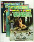 Magazines:Horror, Vampirella Group (Warren, 1973-75) Condition: Average VF. This group contains issues #28 through 35, and 37 through 40. Issu... (12 Comic Books)