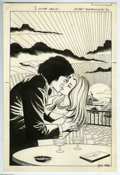 Original Comic Art:Covers, Jack Abel - Secret Romance #33 Cover Original Art (Charlton, 1975).Love blooms on the high seas in this no-nonsense cover b...