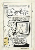 "Original Comic Art:Covers, Stan Goldberg - Life with Archie #246 Cover Original Art (Archie,1985). Shall we play a game? Juggie goes all ""Tron"" on Arc..."