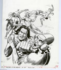 Original Comic Art:Covers, Dan Spiegle - Brothers of the Spear #18 Cover Original Art(Whitman, 1982). The battle rages on in this hard-hitting coverb...
