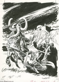 Original Comic Art:Covers, Dan Spiegle and Frank Bolle - Dagar the Invincible Cover OriginalArt, Group of 3 (Gold Key, 1982). Here are three exciting ... (3items)