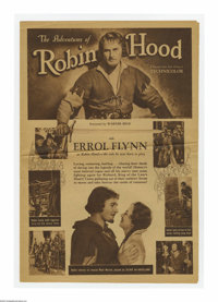 "The Adventures of Robin Hood (Warner Brothers, 1938). Herald (15.5"" X 22"" Unfolded). Offered here is a vintage..."