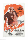 """Movie Posters:Western, Angel and the Badman (Republic, R-1959). One Sheet (27"""" X 41""""). Offered here is a vintage, theater-used poster for this West..."""