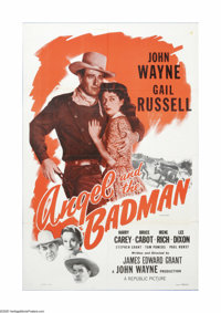 "Angel and the Badman (Republic, R-1959). One Sheet (27"" X 41""). Offered here is a vintage, theater-used poster..."