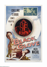 """The Black Glove (Lippert Pictures, Inc., 1954). One Sheet (27"""" X 41""""). Directed by Terence Fisher several year..."""