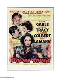 "Boom Town (MGM, 1940). Herald (10.5"" X 14"" Unfolded). This is the sort of MGM film that made the studio so fam..."