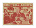 """Charlie Chan on Broadway (20th Century Fox, 1937). Herald (9"""" x 11.5"""" Unfolded). Earl Derr Biggers' Chinese de..."""