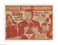 "Charlie Chan on Broadway (20th Century Fox, 1937). Herald (9"" x 11.5"" Unfolded). Earl Derr Biggers' Chinese de..."
