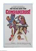 "Movie Posters:Western, Companeros (GSF, 1972). One Sheet (27"" X 41""). Offered here is a vintage, theater-used poster for this Western comedy direct..."