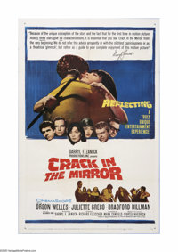 """Crack in the Mirror (20th Century Fox, 1960). One Sheet (27"""" X 41""""). Orson Welles, Juliette Greco and Bradford..."""