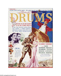 "Movie Posters:Adventure, Drums (United Artists, 1938). Herald (9"" X 12"" Unfolded). Offeredhere is a vintage, theater-used herald for this war advent..."
