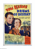 "Movie Posters:Adventure, Drums of Destiny (Crescent Pictures, 1937). One Sheet (27"" X 41"").Offered here is a vintage, theater-used poster for this h..."