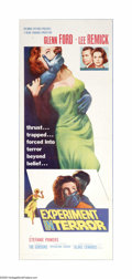 "Movie Posters:Mystery, Experiment in Terror (Columbia, 1962). Insert (14"" X 36""). Offered here is a vintage, theater-used poster for this thriller ..."