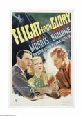 """Movie Posters:Drama, Flight From Glory (RKO, 1937). One Sheet (27"""" X 41""""). Offered here is a vintage, theater-used poster for this drama directed..."""