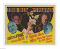 """Movie Posters:Adventure, Four Men and a Prayer (20th Century Fox, 1938). Title Lobby Card(11"""" X 14""""). Offered here is a vintage, theater-used lobby ..."""