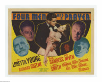 "Four Men and a Prayer (20th Century Fox, 1938). Title Lobby Card (11"" X 14""). Offered here is a vintage, theat..."
