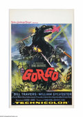 "Movie Posters:Science Fiction, Gorgo (MGM, 1961). Belgian Poster (14"" X 21""). Offered here is avintage, theater-used poster for this sci-fi monster film d..."