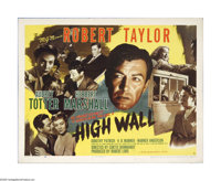 "High Wall (MGM, 1947). Half Sheet (22"" X 28""). Offered here is a vintage, theater-used poster for this film no..."