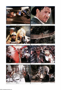 "Indiana Jones and the Temple of Doom (Paramount, 1984). Lobby Card Set of 8 (11"" X 14""). Steven Spielberg and..."
