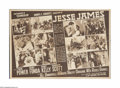 """Movie Posters:Western, Jesse James (20th Century Fox, 1939). Herald (16"""" X 23"""" Unfolded). Though 1939 was a fruitful year for motion pictures, one ..."""