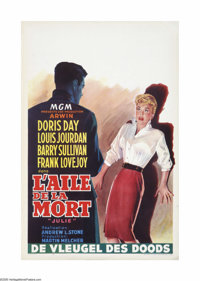 "Julie (MGM, 1956). Belgian Poster (14.5"" X 22""). Offered here is a vintage, theater-used poster for this thril..."