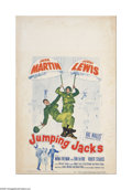 "Movie Posters:Comedy, Jumping Jacks (Paramount, 1952). Window Card (14"" X 22""). Offered here is a vintage, theater-used poster for this comedy dir..."
