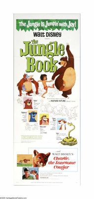 "The Jungle Book (Buena Vista, 1967). Insert (14"" X 36""). This was the last great fling for many of the best Di..."