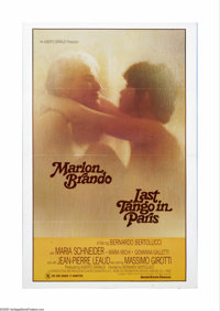 """Last Tango in Paris (United Artists, 1972). One Sheet (27"""" X 41""""). Offered here is a vintage, theater-used pos..."""