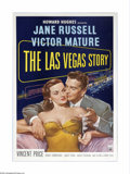 """Movie Posters:Drama, The Las Vegas Story (RKO, 1952). One Sheet (27"""" X 41""""). This filmteams Jane Russell with a Victor Mature in a romantic-tria..."""