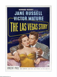"The Las Vegas Story (RKO, 1952). One Sheet (27"" X 41""). This film teams Jane Russell with a Victor Mature in a..."