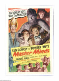"""Movie Posters:Horror, Master Minds (Monogram, 1949). One Sheet (27"""" X 41""""). Offered here is a vintage, theater-used poster for this horror/comedy ..."""