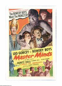 "Master Minds (Monogram, 1949). One Sheet (27"" X 41""). Offered here is a vintage, theater-used poster for this..."