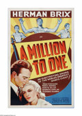 """Movie Posters:Sports, A Million to One (Puritan Pictures, 1938). One Sheet (27"""" X 41""""). Offered here is a vintage, theater-used poster for this sp..."""