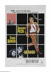 "Mirage (Universal, 1965). One Sheet (27"" X 41""). Offered here is a vintage, theater-used poster for this myste..."