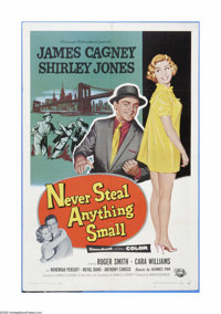 """Never Steal Anything Small (Universal International, 1959). One Sheet (27"""" X 41""""). Offered here is a vintage..."""